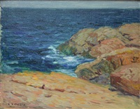 rocky coast by charles salis kaelin