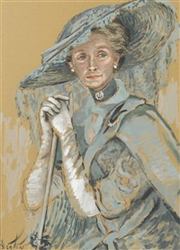 portrait of dame gladys cooper in my fair lady by cecil beaton