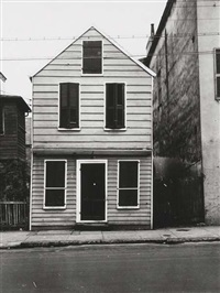 house with shuttered windows, new orleans by peter sekaer