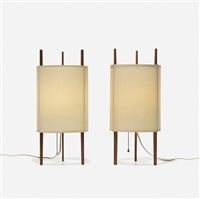 table lamps model 9, pair by isamu noguchi