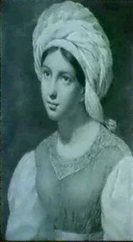 portrait de alexandrine de bra....(?) by françois louis dejuinne