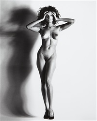 big nude xv: raquel, nice by helmut newton
