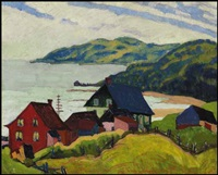 farmhouses, la malbaie by randolph stanley hewton