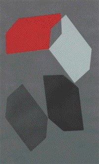 composition gris rouge by jacques mennessons
