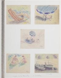 carnet de 49 croquis et études préparatoires by jean puy