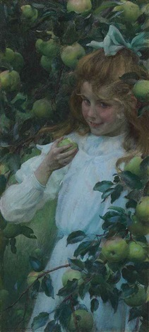in the orchard by charles courtney curran