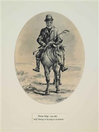 approaching the last hole, traditionally identified as james wolfe-murray on his pony at st andrews by thomas hodge
