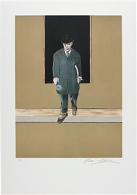 president wilson, from triptych 1986-1987 by francis bacon