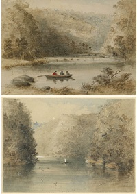 (i)falls on the nepean river from norton basin; (ii)on the nepean (2 works) by samuel thomas gill