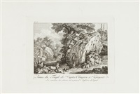 vues de la sicile (portfolio of 12 after j. ph. hackert) by balthasar anton dunker