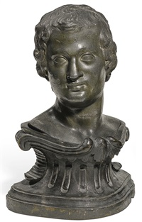 pair of busts of a young man and a young woman by franz xaver messerschmidt
