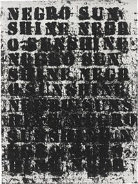 study for negro sunshine #65 by glenn ligon