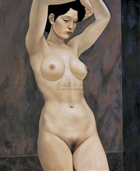 standing nude by xue yanqun