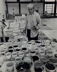 willem de kooning dans son atelier by hans namuth
