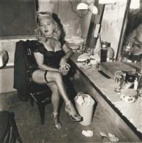 burlesque commedienne in her dressing room, atlantic city, n.j by neil selkirk and diane arbus