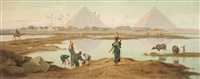the waters of the nile, egypt by frederick goodall