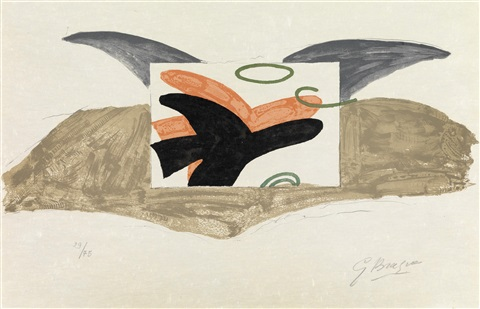 oiseau en vol vogelflug by georges braque