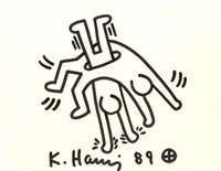 untitled (two figures) by keith haring