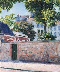 maisons à argenteuil by gustave caillebotte