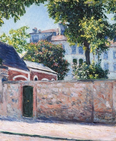 maisons à argenteuil by gustave caillebotte