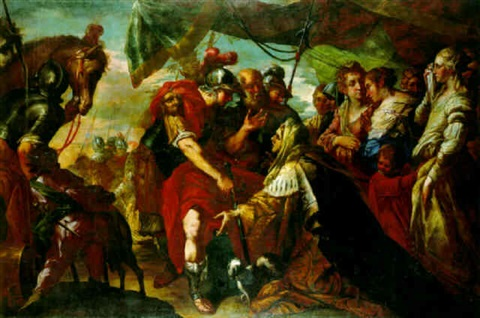 coriolanus persuaded by his family to raise the siege of rome by filippo abbiati