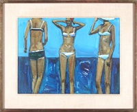 three bathers by shirl goedike