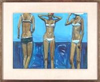 three bathers by shirl goedike