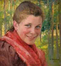 a girl from porvoo (a farmer's daughter from uusimaa) by albert edelfelt