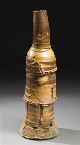 monumental stack vessel by peter voulkos