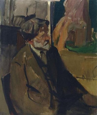 portrait of frederick caretaker at the city art museum st louis by richard edward miller
