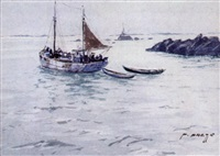 départ du chalutier pour la pêche by pierre brette