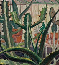 cacti; floral study by nora frances elisabeth collyer