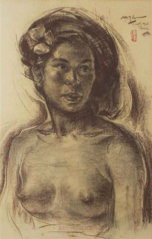 portrait of a balinese woman by lee man fong