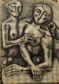 sorrowing couple by lyndon raymond dadswell