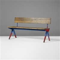 bench from the electricité de france, marcoule by jean prouvé