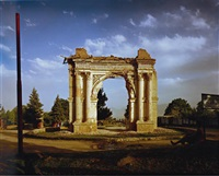 king amanullah's victory arch built to celebrate the 1919 independence from the british. paghman, kabul province by simon norfolk