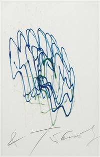 méta-matic n°6 - bleu, vert by jean tinguely