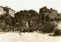 arch of janus, rome by rackstraw downes
