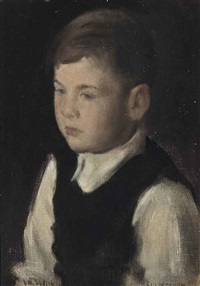 portrait of a young boy by william coldstream