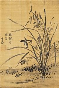 묵란도(墨蘭圖) (orchid) by sim sa-jong
