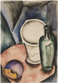 still life with bottle by natan isaevich altman