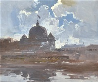 flinders street from the banks of the yarra by theodore penleigh boyd