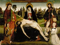 the pietà with saint john the baptist and saint roch and two donors by french school-avignon (16)