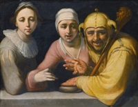 a fool with two women by cornelis cornelisz van haarlem