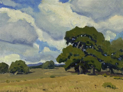 oaks in sunshine by arthur hill gilbert
