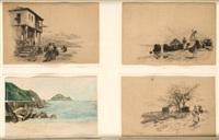 paisajes (4 works) by tomas campuzano y aguirre