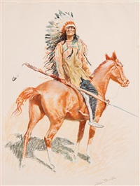 buckskin series (set of 8) by frederic remington