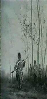 infantristen in einem waldstuck by friedrich bartsch