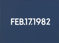feb. 17, 1982 by on kawara
