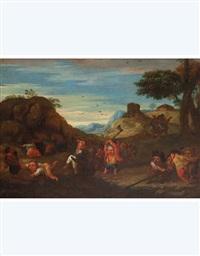 nani che catturano un gambero (+ nani che cucinano un gambero; 2 works) by enrico albricci